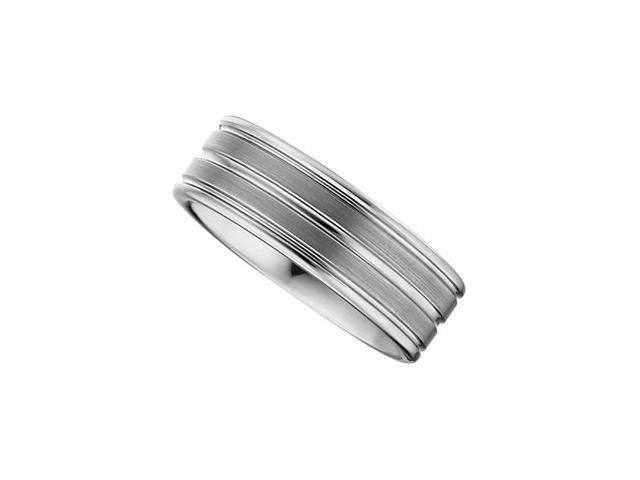 8.3MM Dura Tungsten Grooved Satin Band Size 12.5