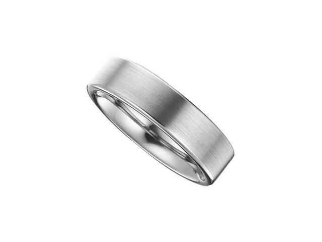 6.3MM Dura Tungsten Rounded Edge Domed Satin Band Size 6