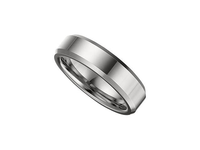 6.3MM Dura Tungsten Beveled Band Size 10