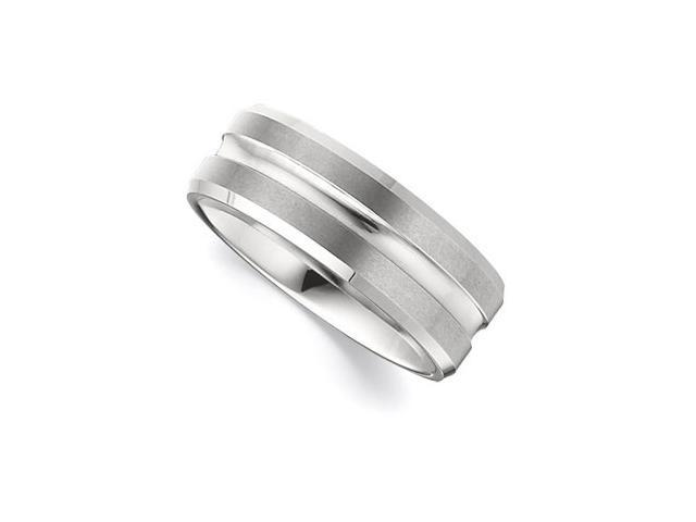 8.3MM Dura Tungsten Beveled Band With Grooved Center Size 11