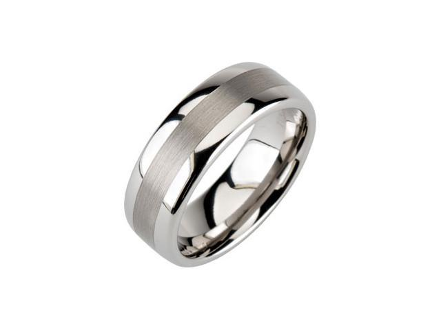 8.3MM Dura Tungsten Domed Band With Satin Center Size 7.5