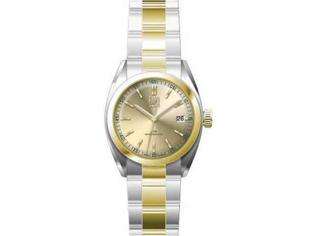 ESQ Women's  Sport Classic Two-Tone-Stainless Steel Yellow Round Dial Watch