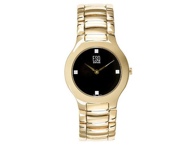 ESQ by Movado Men's 7301190 Verve Diamond Accented Gold-Tone Watch