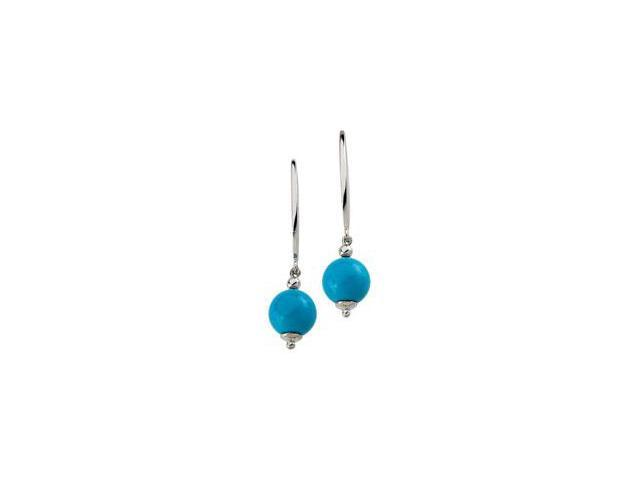 Sterling Silver Genuine Turquoise Earring