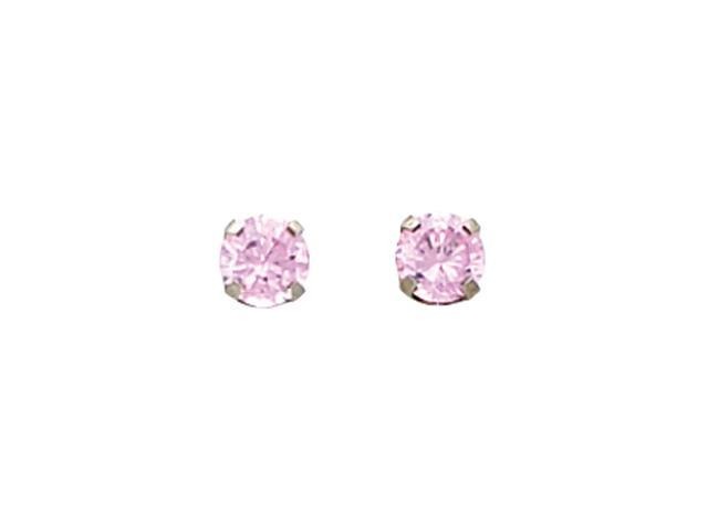 14K White Gold Inverness Pink Cubic Zirconia Earring