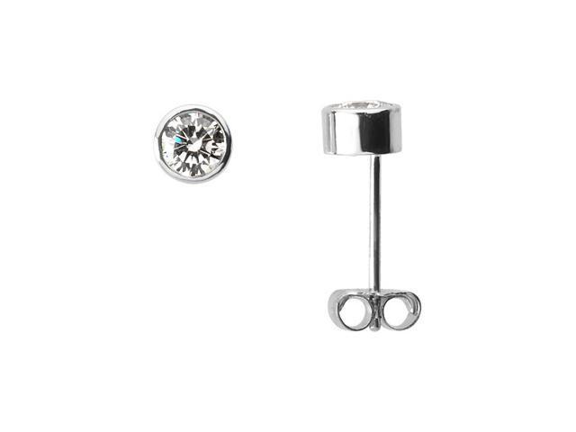 Platinum Diamond Solitaire Earring