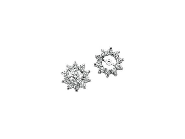 14K White Gold Diamond Earring Jacket