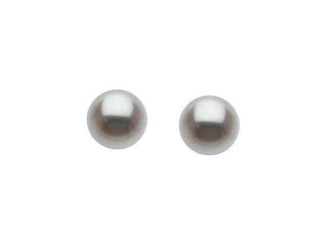 14K White Gold Freshwater Cultured Pearl Earrings