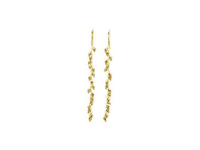 14K Yellow Gold Fashion Dangle Earrings