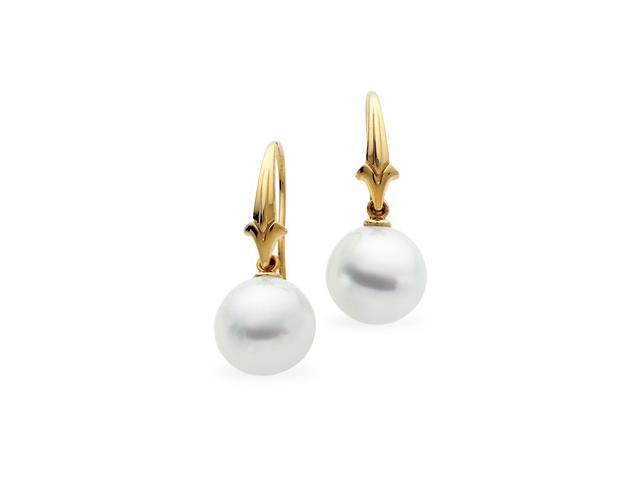 18K Yellow Gold South Sea Cultured Pearl Earring B