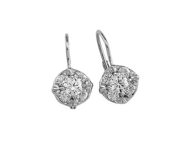 14k white gold leverback earring findings hoops