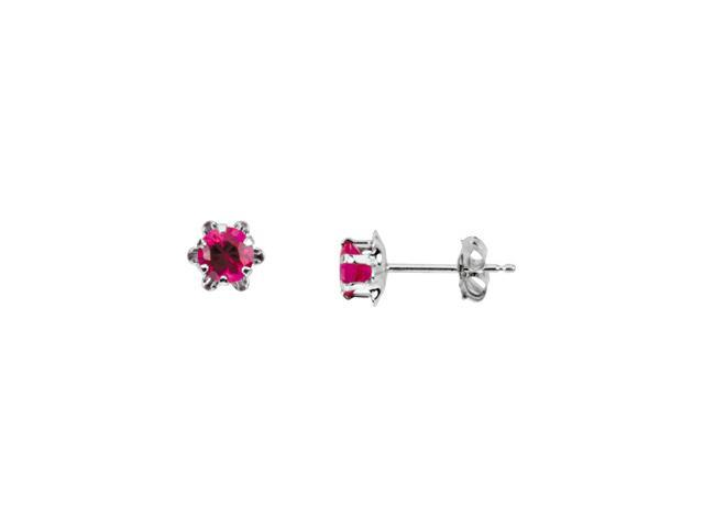 14K White Gold Teen Birthstone Earring