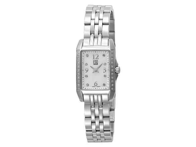 ESQ by Movado Ladies Square Casing Stainless Steel Band Watch 7101297