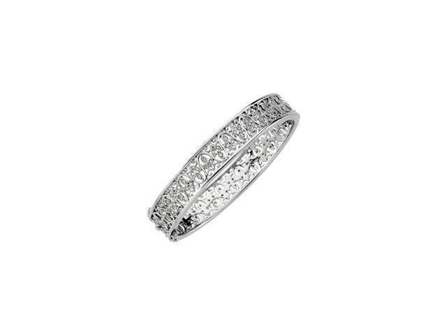 CleverSilver's 14K White Gold Diamond Bangle Bracelet 1/2 Ct Tw-