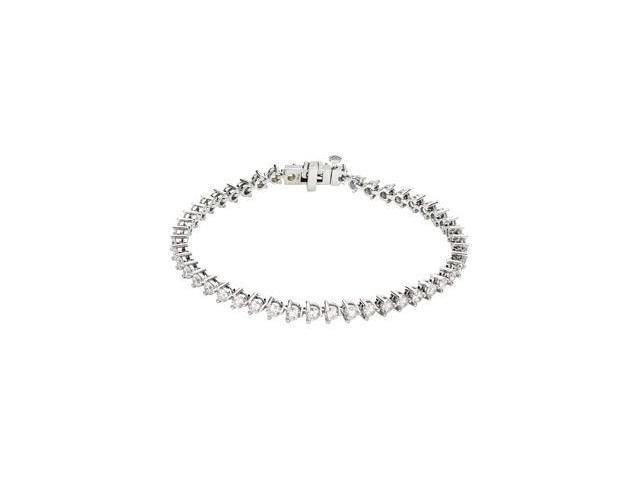 CleverSilver's 14K White Gold Diamond Line Bracelet 5 Ct Tw/ 7 1/4 Inch-