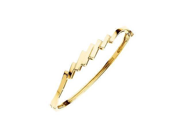 CleverSilver's 14K White Gold Hinged Bangle Bracelet-