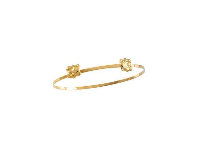 CleverSilver's 14K Yellow Gold Child'S Teddy Bear Bracelet-