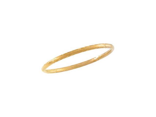CleverSilver's 14K Yellow Gold Children'S Diamond Cut Bangle Bracelet-