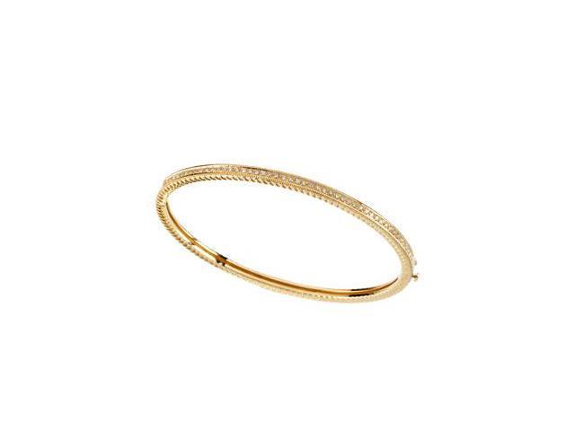 CleverSilver's 14K Yellow Gold Diamond Bangle Bracelet 1/3 Ct Tw-