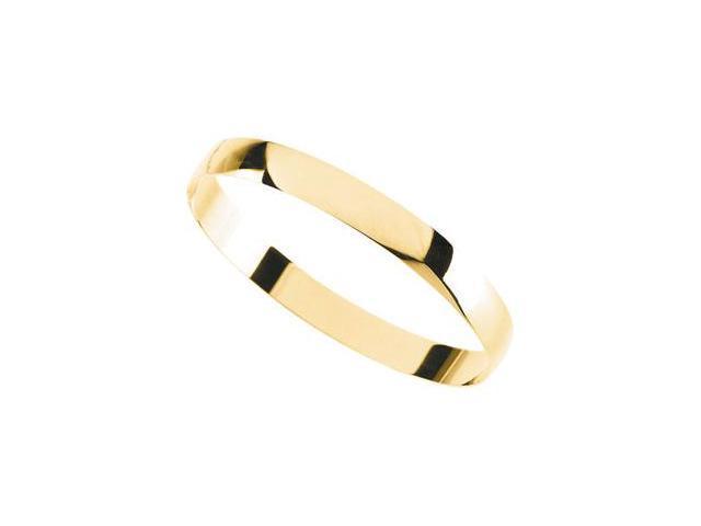 CleverSilver's 14K Yellow Gold Half Round Bracelet-