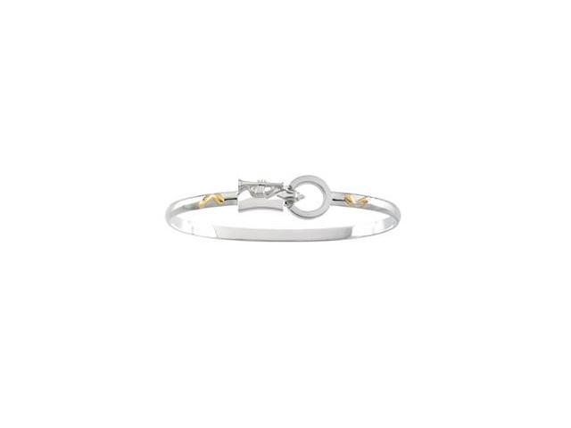 CleverSilver's Sterling Silver & 14K Yellow Gold Montesino New Orleans Destination Bracelet-