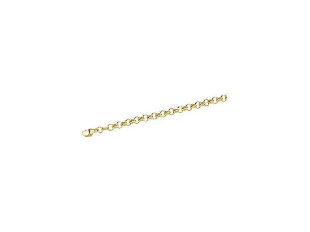 CleverSilver's 14K Yellow Gold Solid Rolo Bracelet-