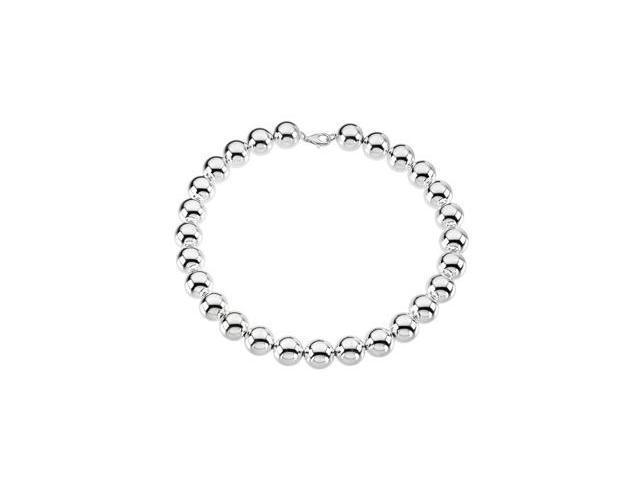 CleverSilver's Sterling Silver 16.00 Mm Bead Bracelet-