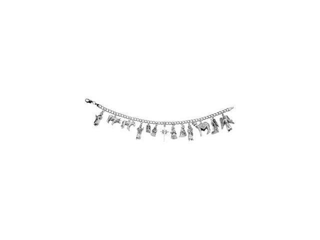 CleverSilver's Sterling Silver Nativity Bracelet-