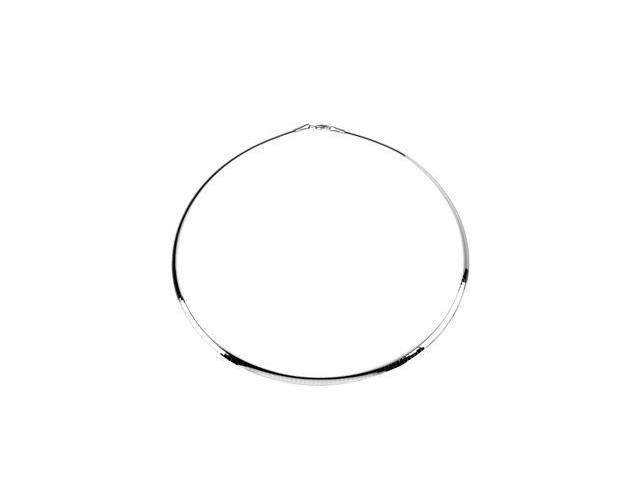 CleverSilver's Sterling Silver & 14K Yellow Gold 0 4. 0 0 Mm Sterling_14Ky Reversible Omega8. 0 0 Inch