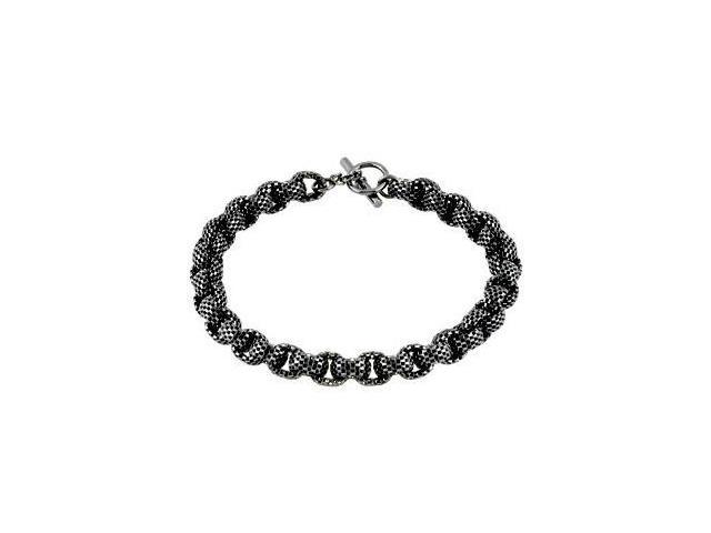 Sterling Silver Black Ruthenium Plated Link Chain