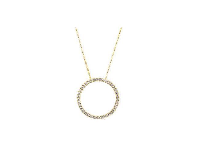 CleverSilver's 14K Yellow Gold Diamond Necklacecttw