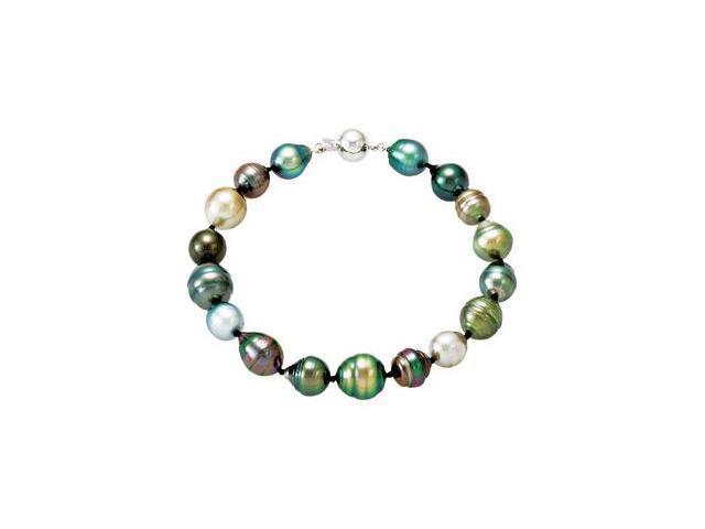 Tahitian Cultured Pearl Necklace & Bracelet Set
