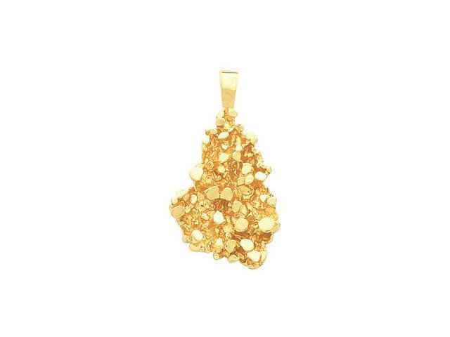CleverSilver's 14K Yellow Gold Nugget Pendant  11.6