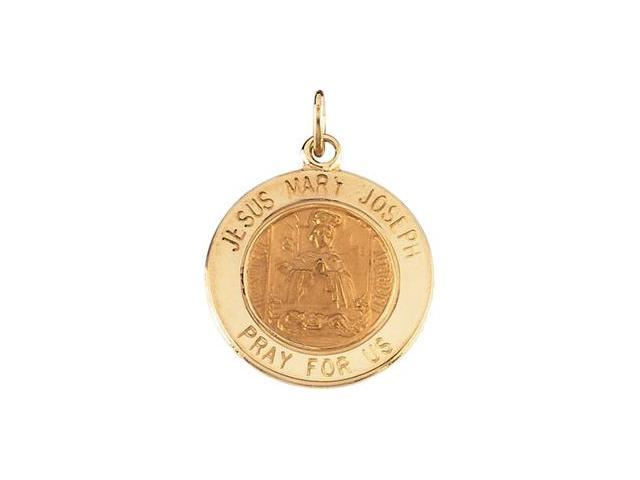CleverSilver's 14K Yellow Gold Jesus,Mary,Joseph Medal 12.00 Mm