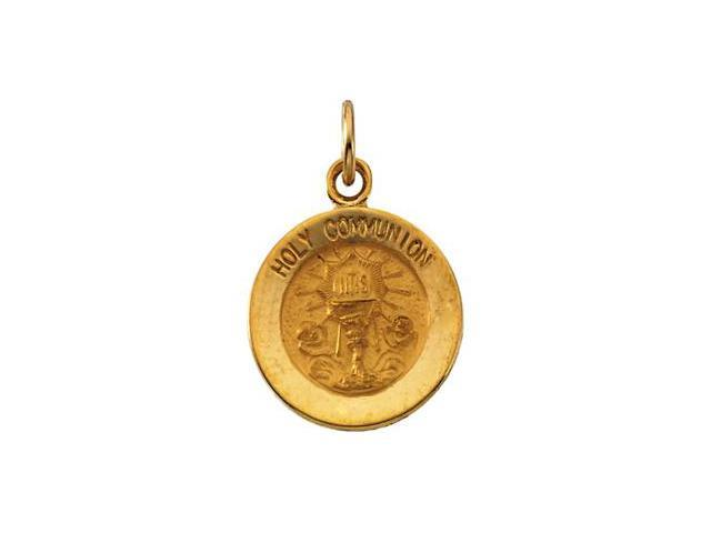 CleverSilver's 14K Yellow Gold Holy Communion Medal 12.00 Mm