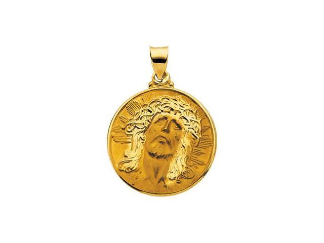 CleverSilver's 14K Yellow Gold Hollow Face Of Jesus (Ecce Homo) Pendant  2.3