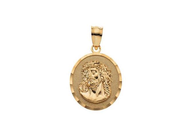 CleverSilver's 14K Yellow Gold Face Of Jesus (Ecce Homo) Pendant  3.5
