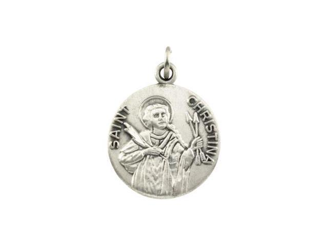 CleverSilver's 14K Yellow Gold St Christ Ina Medal 18.00 Mm