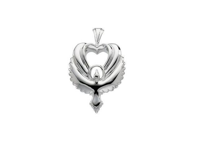 CleverSilver's 14K Yellow Gold Heart Shaped Holy Spirit Pendant  2.7