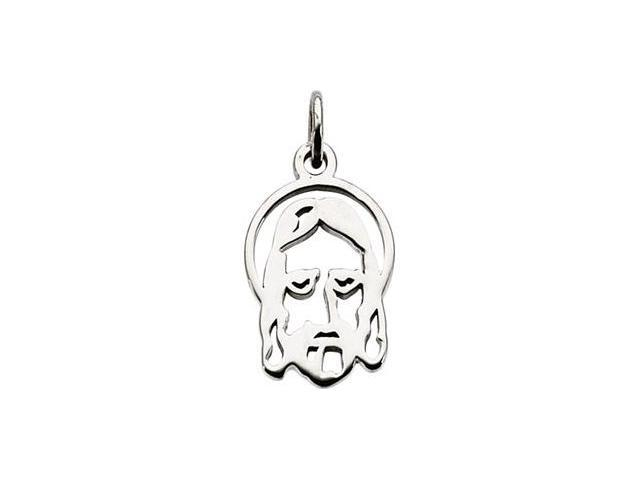 CleverSilver's 14K Yellow Gold Face Of Jesus Silhouette Pendant
