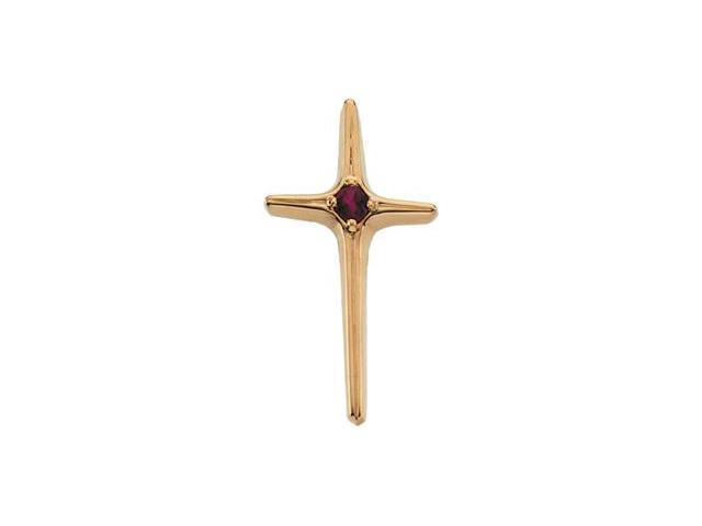 Cross Pendant W/Ruby