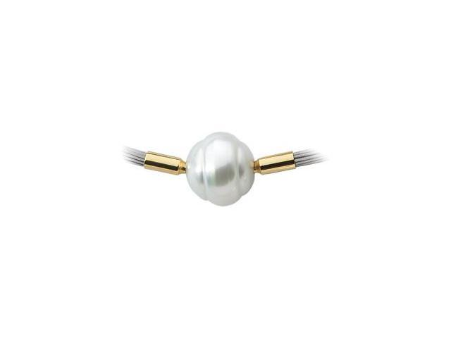 CleverSilver's 18K White Gold South Sea Cultured Pearl Swap 10.00Mm Fine Circle