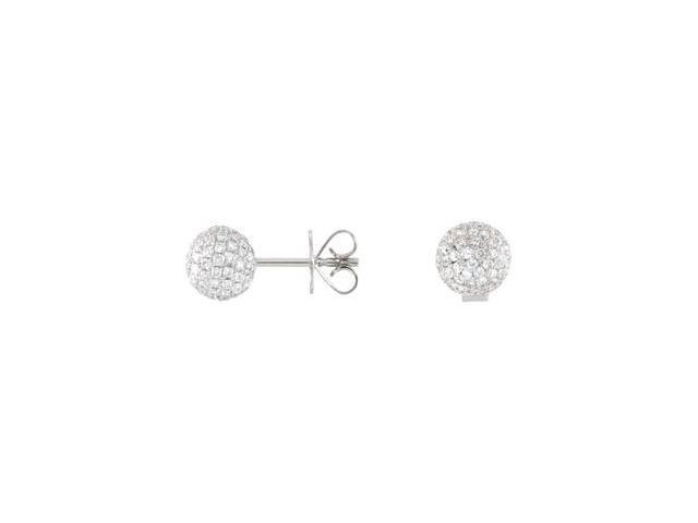 18K White Gold 1 1/6 Ct Tw Diamond Earrings