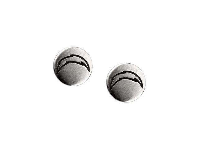 Stainless Steel 10.00mmx10.00mm San Diego Chargers Logo Stud Earrings