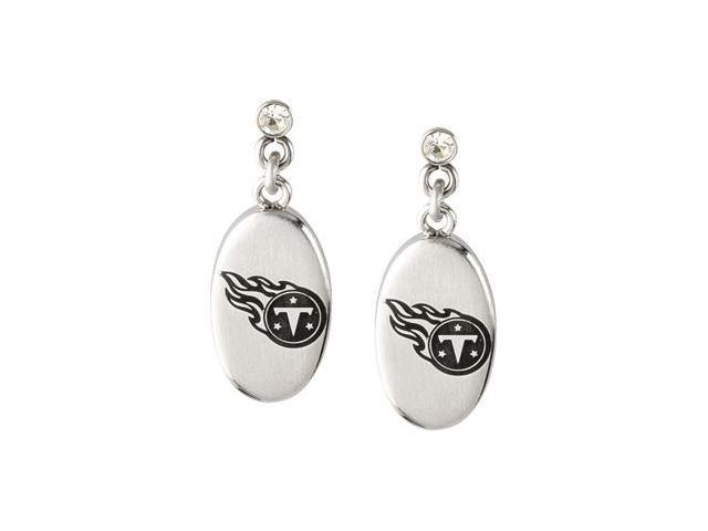 Stainless Steel 27.60mmx10.00mm Tennessee Titans Logo Dangle Earrings