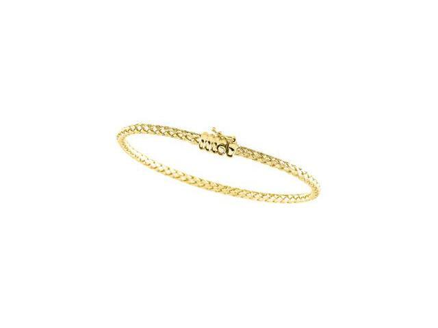 CleverSilver's 14K Yellow Basket Weave Chain 7.25 Inch