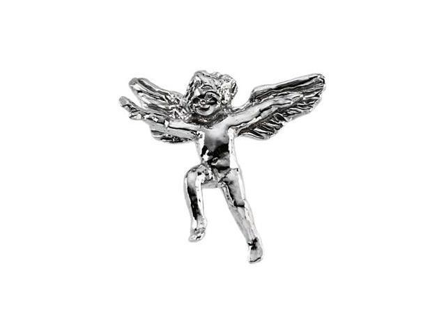 CleverSilver's 14K White Gold Angel Lapel Pin5. 0 0X7. 0 0 Mm