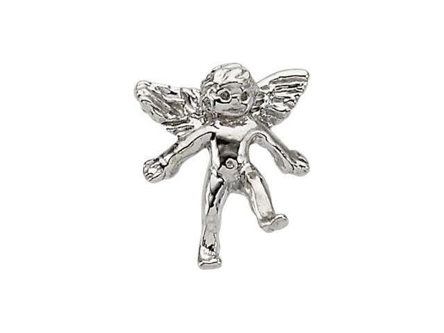 CleverSilver's 14K White Gold Angel Lapel Pin1. 0 0X10. 0 0 Mm