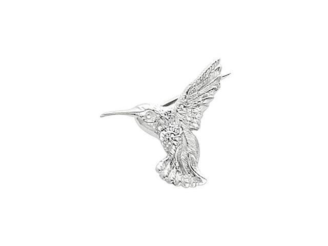CleverSilver's 14K White Gold Hummingbird Brooch9. 0 0X 2 1. 0 0 Mm