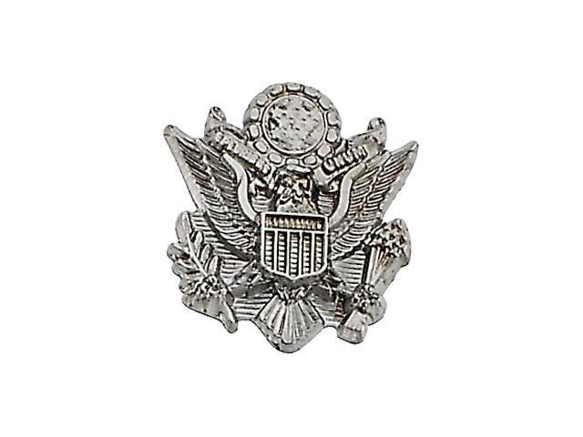 CleverSilver's 14K White Gold Us Army Lapel Pin10. 0 0X 0 9. 0 0 Mm